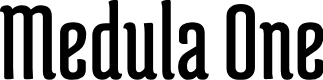 Preview image for Medula One Font