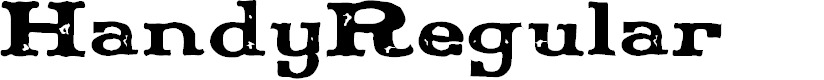 Preview image for Handy-Regular Font