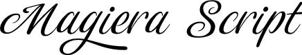 Preview image for Magiera Script Font