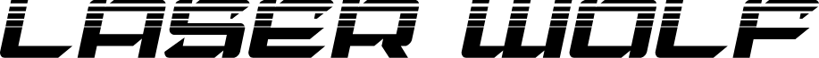 Laser Wolf Halftone Italic