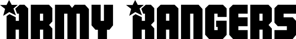 Preview image for Army Rangers Regular Font