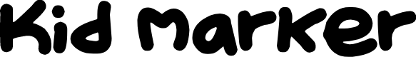 Preview image for Kid Marker Font