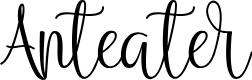 Preview image for Anteater Font