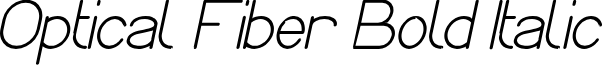 Optical Fiber Bold Italic
