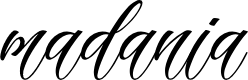 Preview image for madania script Font