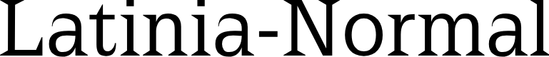 Preview image for Latinia-Normal Font