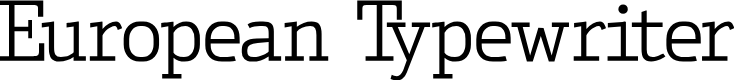 Preview image for EuropeanTypewriter Font