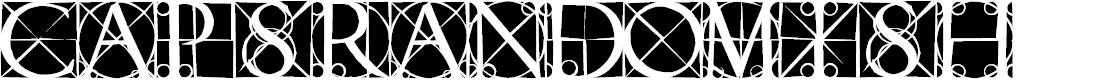 Preview image for CapsRandomish Font