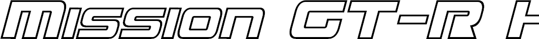 Preview image for Mission GT-R Hollow Italic