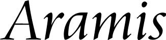Preview image for Aramis Regular Font