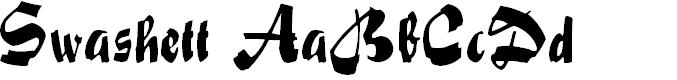 Preview image for Swashett Normal Font