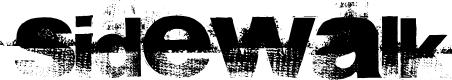 Preview image for sidewalk Font