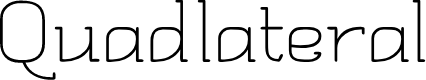 Preview image for Quadlateral Font