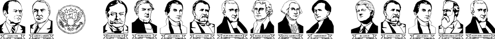 Preview image for LCR American Presidents Font