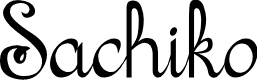 Preview image for Sachiko Font