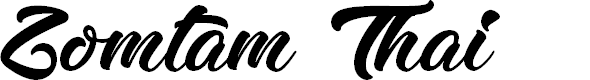 Preview image for Zomtam Thai Font
