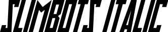 Slimbots Italic