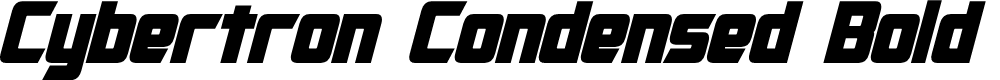 Preview image for Cybertron Condensed Bold Italic