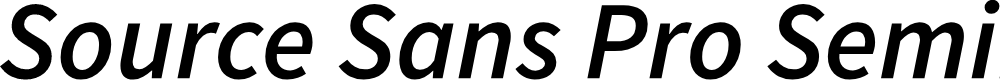 Preview image for Source Sans Pro Semibold Italic