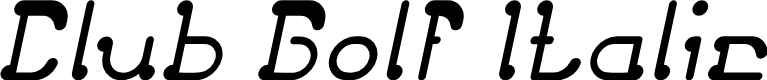 Preview image for Club Golf Italic