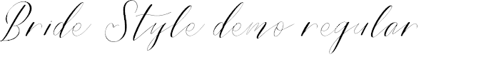 Preview image for Bride Style DEMO Regular Font