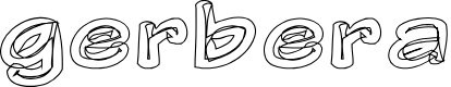 Preview image for Gerbera Personal Use Only Font