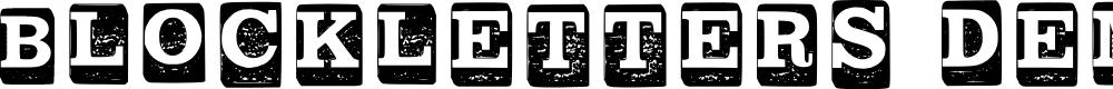 Preview image for Block Letters _ Demo Regular Font