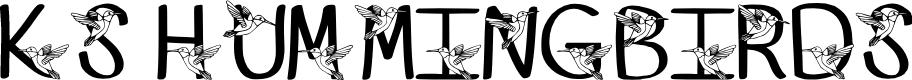 Preview image for Ks Kristines Hummingbir Regular Font