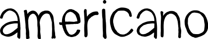 Preview image for americano Font