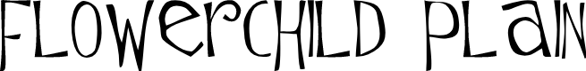 Preview image for Flowerchild Plain Font