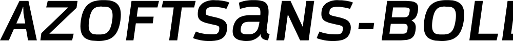 Preview image for AzoftSans-BoldItalic