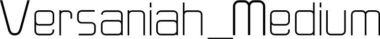 Preview image for Versaniah_Medium Font