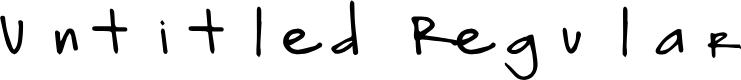 Preview image for Untitled Regular Font