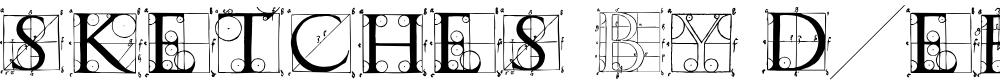 Preview image for SketchesByDuerer Font