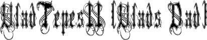 Preview image for VladTepesII (Vlads Dad) Font