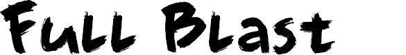 Preview image for DK Full Blast Regular Font