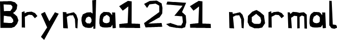 Preview image for Brynda1231 normal Font