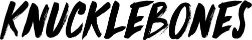 Preview image for DK Knucklebones Regular Font