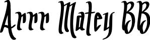 Preview image for Arrr Matey BB Font