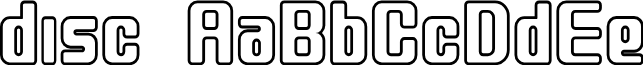 disc font
