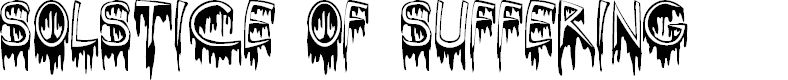 Preview image for SolsticeOfSuffering Font