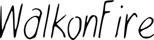 Preview image for WalkonFire Font