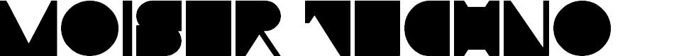 Preview image for Moiser techno Font