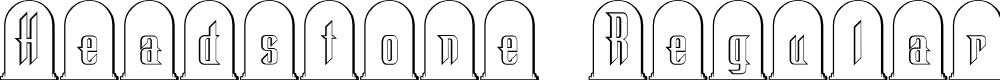 Preview image for Headstone Regular