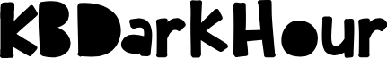KBDarkHour font