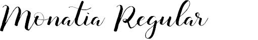 Preview image for Monatia Regular Font