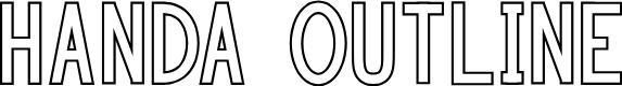 Preview image for HANDA OUTLINE Font