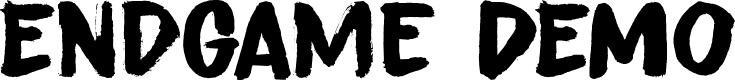 Preview image for Endgame DEMO Regular Font
