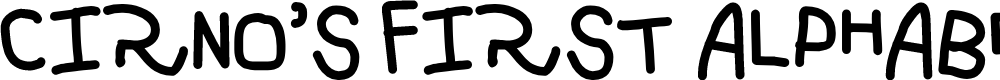 Preview image for Cirno's First Alphabet Font