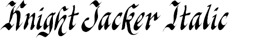Preview image for Knight Jacker Italic